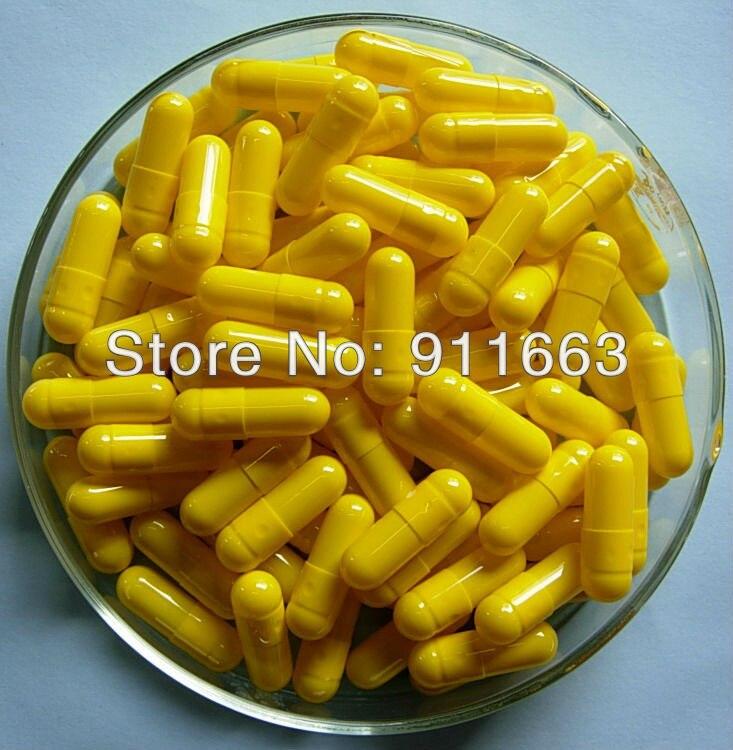 10,000 sztuk 0 # żółto żółty kolorowe puste kapsułki żelatynowe rozmiary/kapsułki żelatynowe/żelatyny puste kapsułki w Skarbonki od Dom i ogród na  Grupa 1