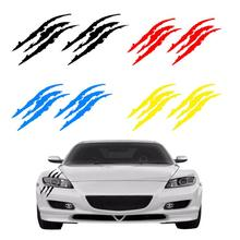 Vinyl Decal Car Sticker Sports Personality Decorative Scratch Sticker Monster Claw Marks Car Decal Black White Red Blue Yellow