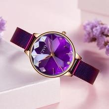 CIVO Luxury diamond  Ladies Watch Women Waterproof Stylish Steel Mesh Band Rhinestone Quartz Wristwatch Watches Woman Clock