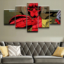 Modern Canvas HD Prints Poster Wall Art Pictures Framework 5 Pieces Comics Hellboy Characters Paintings Boys Room Home Decor
