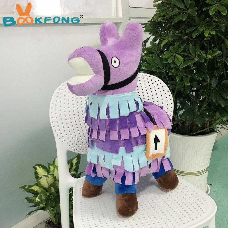 58 cm Super Géant Cachette Lama En Peluche Jouet Belle Cachette Alpaga Cheval Animal En Peluche Poupées Enfants Halloween Cadeaux De Noël