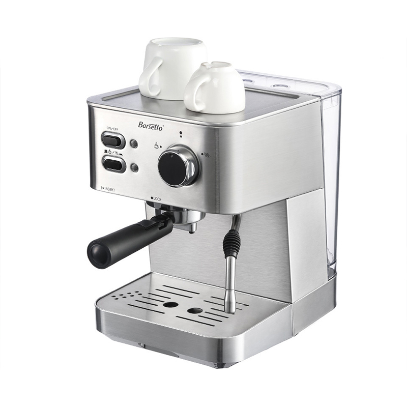 Hot Sale BARSETTO 15Bar Pressure Coffee Machine stainless steel household espresso coffee maker-EU PlugHot Sale BARSETTO 15Bar Pressure Coffee Machine stainless steel household espresso coffee maker-EU Plug