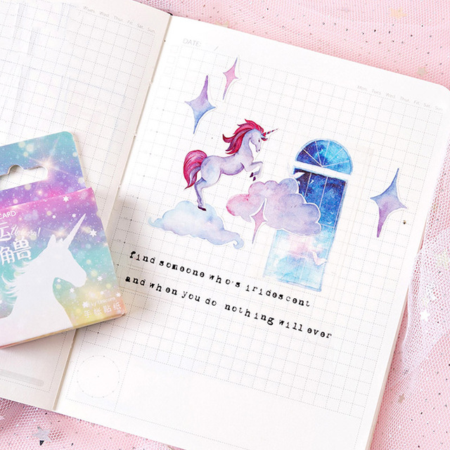 Magic Star Unicorn Design Stickers 46 pcs Set