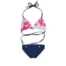 Summer Two-Piece Swimsuit Bathing Suit Girls Children Sakura Top Children's Two Piece Suits Swimwear Bikini Set Girls Beachwear недорого