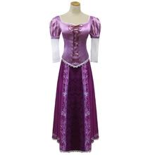 هالوين كرنفال حفلة تأثيري الأميرة متشابكة رابونزيل فستان بتصميم حالم ازياء الكبار للأزياء للنساء شعر مستعار طويل عيد الميلاد