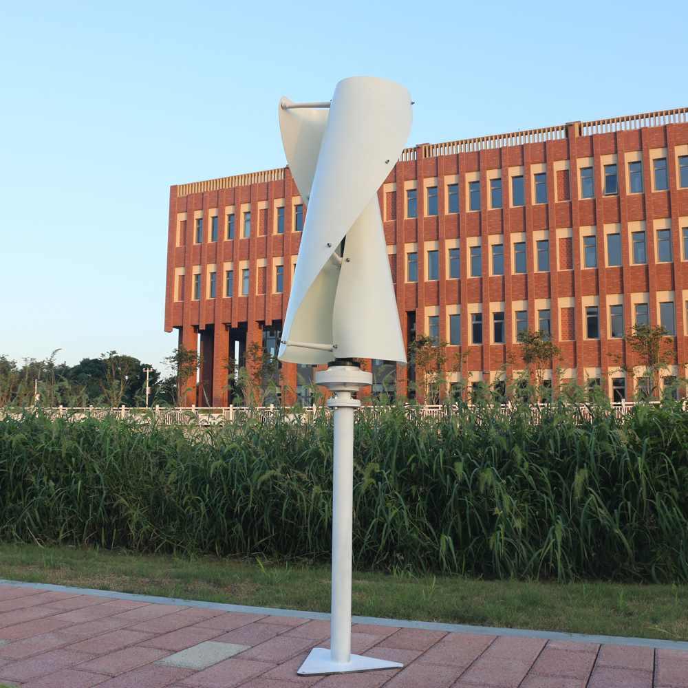 Max 500 Вт DC 12/24 В 1050 мм вертикальные Helix ветер т urbine генератор Питание + MPPT контроллер фонаря с помощью генератора Наборы