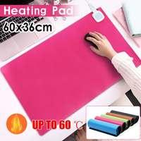 60x36 см 60 Вт 220 в домашний офис Электрический нагревающий коврик теплый коврик для стола зимний теплый коврик для мыши грелка подушка