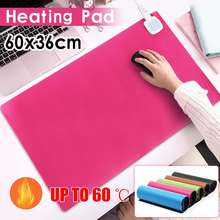 60x36cm 60W 220v Home Office Electric Warming Heating Pad Warm Table Mat Winter Warm Hand Mouse Pad Heating Cushion