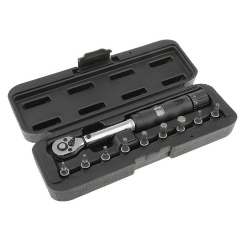 Bicycle Bike Torque Wrench 1/4 Drive Hex Socket Bit Set Repairing SpannerBicycle Bike Torque Wrench 1/4 Drive Hex Socket Bit Set Repairing Spanner