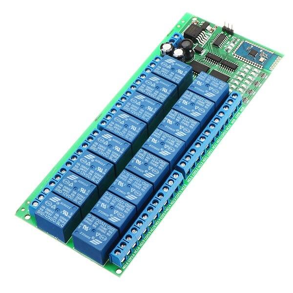 Commutateur à télécommande sans fil de carte de relais de bluetooth de cc 12 V 16 canaux pour des téléphones Android avec des fonctions de bluetooth