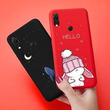 Silicone Case For Xiaomi Redmi Note 7 Cute Animal Cat Rabbit Matte Cover 3D Relief Bumper 5 Plus 6 Pro 6A