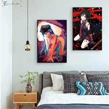 Akame Ga Kill Anime Girl Canvas Printed Painting Wall Pictures Home Decor Posters And Prints Art For Living Room(China)