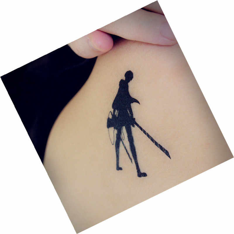Aanval Op Titan Shingeki Geen Kyojin Levi Ackerman Cosplay Tatoo Sticker XR066