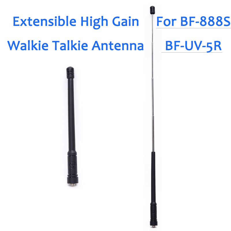 High Gain Radio Antenna For Radio Comunicador Suit For Baofeng BF-888S UV-5R Walkie Talkie 10 Km Five Section Extensible