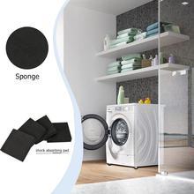 4pcs/set Sponge Square Refrigerator Mute Mat Washing Machine Anti Vibration Pad Shock Pads Anti Vibration Pad reduces noise