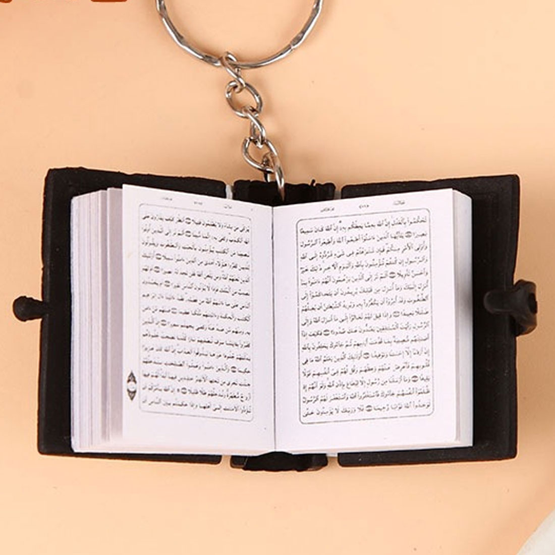 Image 3 - Cute Mini Arabic Quran Islamic Keychain Women Allah Real Paper 
