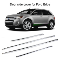 Car Door Side Cover Strip for Ford Edge 2011 2012 2013 2014 Exterior Chrome Trim Guard 4Pcs