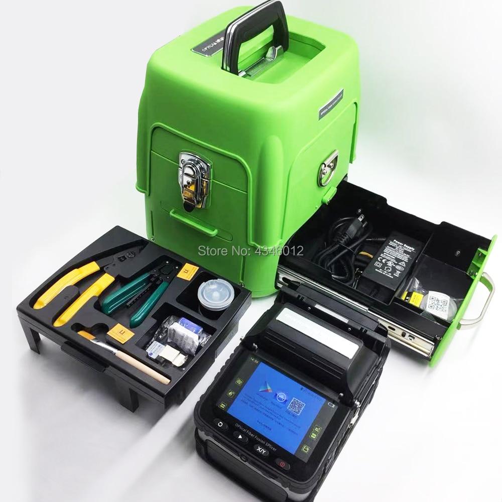 AI-8 Automatique Fiber Optique Fusion Colleuse Intelligente/FTTH Fiber Optique Épissure Machine De Soudage/Fiber De Fusion kit/Vert boîte à outils