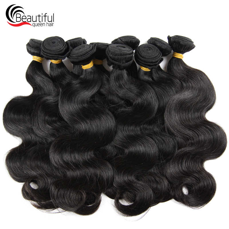 Beautiful Queen 10A Brazilian Human Hair Bundles Body Wave 10 PCS/Lot Deals Natural Color Double Wefts Bundles Weave Virgin Hair