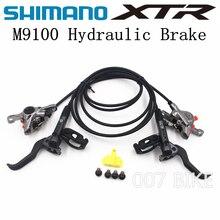 SHIMANO freno de disco hidráulico para bicicleta de montaña, XTR DEORE XTR M9100, MTB ice tech, freno izquierdo y derecho, 900/1600mm, XTR
