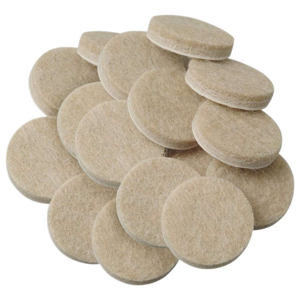 Hot-Self-Stick Furniture Round Felt Pads For Hard Surfaces 48-Pcs
