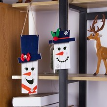Pack Of 3pcs Snowman Christmas Ornaments Door Decorations Hanging Pendant Merry Happy New Year Decoration