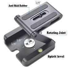 Z flex tilt tripé cabeça titular da câmera de alumínio dobrável placa liberação rápida suporte montagem estabilizador nível espírito para câmera telefone