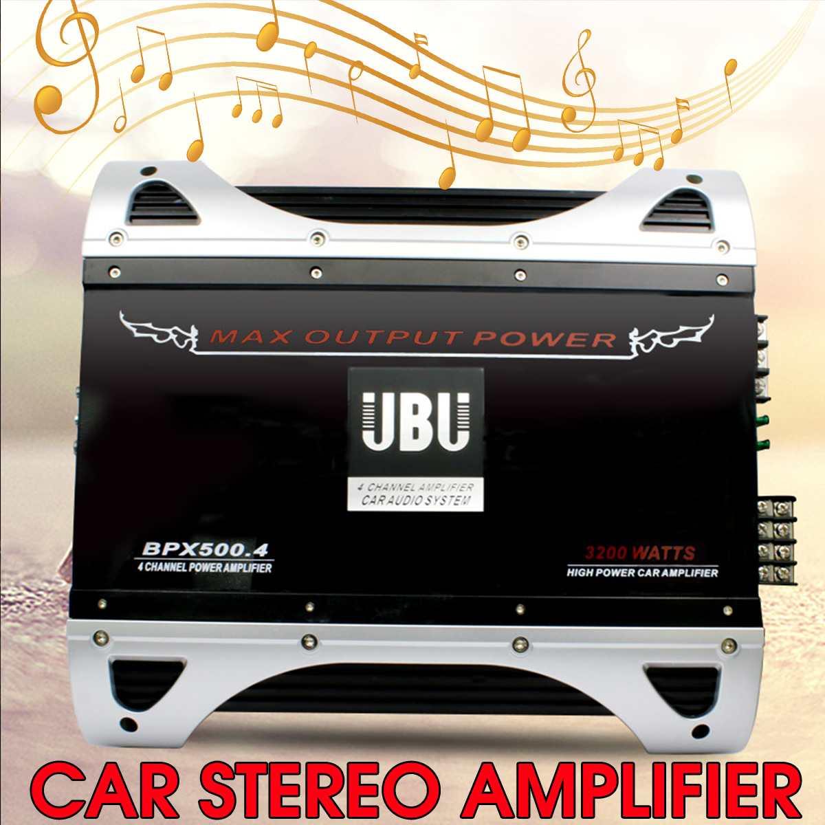 12V 4 Kanal 3200WAmp Auto Stereo HIFI Sound Verstärker Hause Musik AMP FM Bass Power Audio Verstärker Fahrzeug subwoofer Lautsprecher