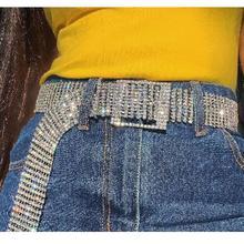 Nueva moda Cinturón brillante. la cintura de las mujeres Cadena de  diamantes de cristal cintura de diamantes de imitación comple. 7950ae3ad48f