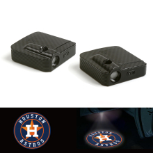 цена на Fit For Houston Astros Logo Car Door Wireless LED Ghost Laser Projector Shadow Light 12V