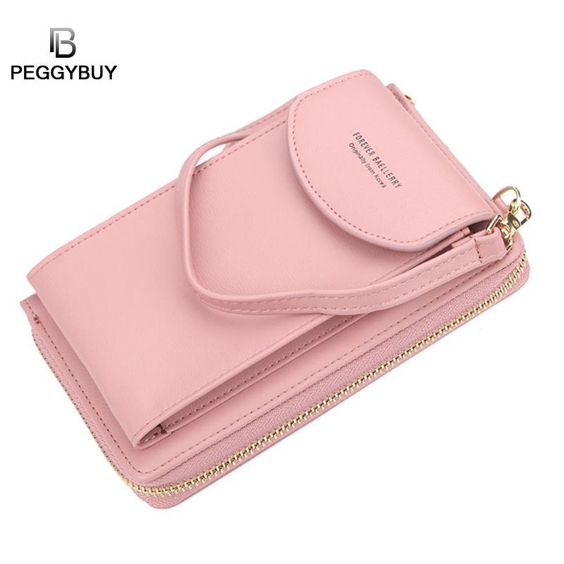Baellerry 2020 Women Wallet Brand Cell Phone Wallet Big Card Holders Wallet Handbag Purse Clutch Messenger Shoulder Straps Bag