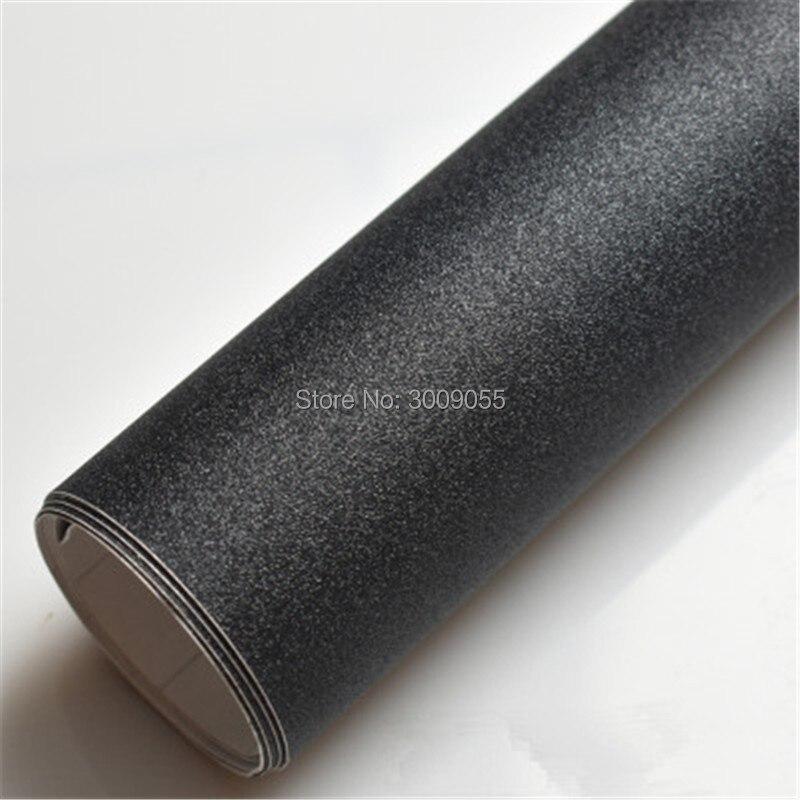 Noir Mat Enveloppe de Vinyle avec Bulle D'air Libre Mat Noir Feuille De Voiture Wrap Film Véhicule Autocollant Comme 1.52x30 m/Rouleau - 3