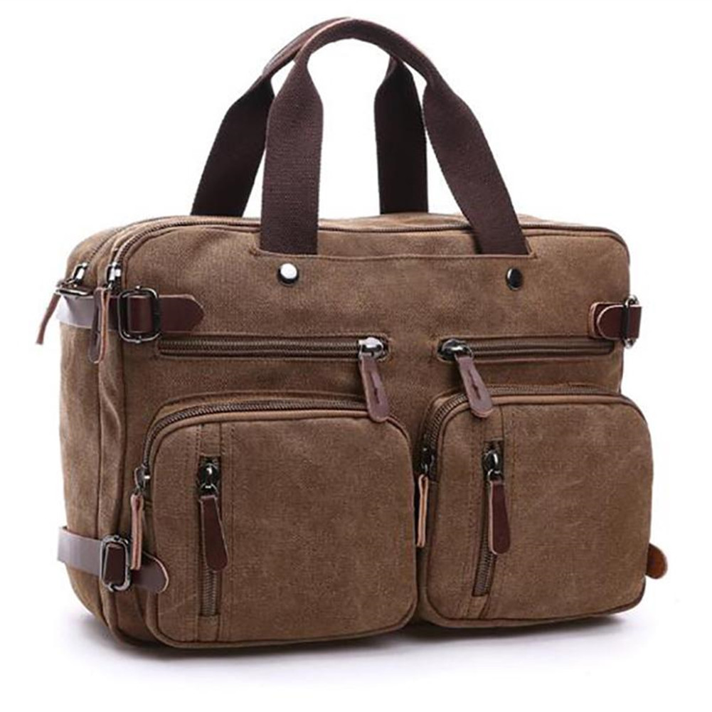 Men's Bag Canvas Satchel Shoulder Bag Large Capacity Multi-pocket Handbag Messenger Bag Men Bolsa Feminina Sac Crossbody Bags
