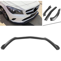 Auto Car Front Bumper Lip Lower Cover Protector Trim For Benz W117 C117 CLA45 AMG 2017 2018 Matte Black