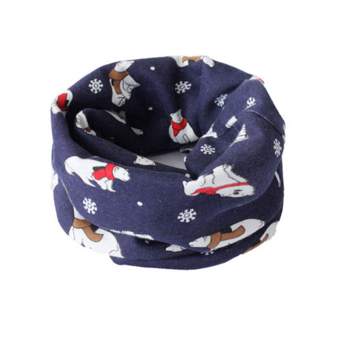Soft Cotton Children/'s Neck Cover  Winter Warmer Baby Snood Scarves Kids Scarf T