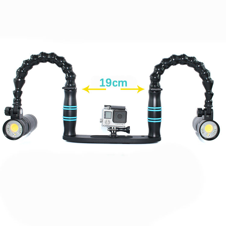 NiteScuba Diving Handle Tray Flex Arm Bracket For TG5 Gopro Sony Canon Nikon Camera Housing& Strobe Light Underwater Photography