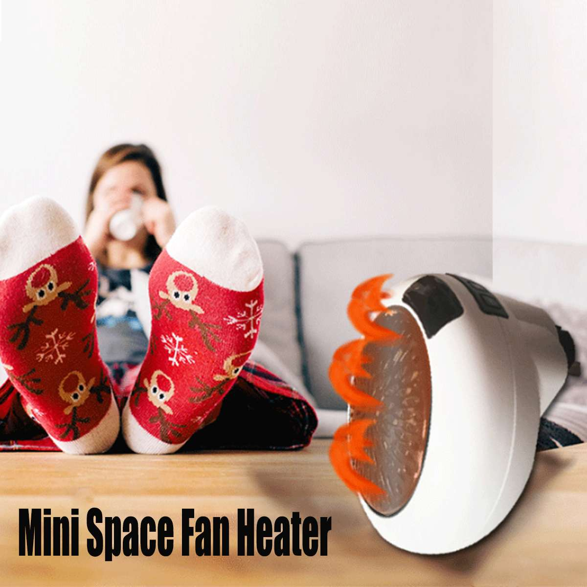 900W Mini Electric Air Heater EU Plug Wall-Outlet Powerful Warm Blower Fast Heater Fan Stove Radiator Room Warmer For Home Offic
