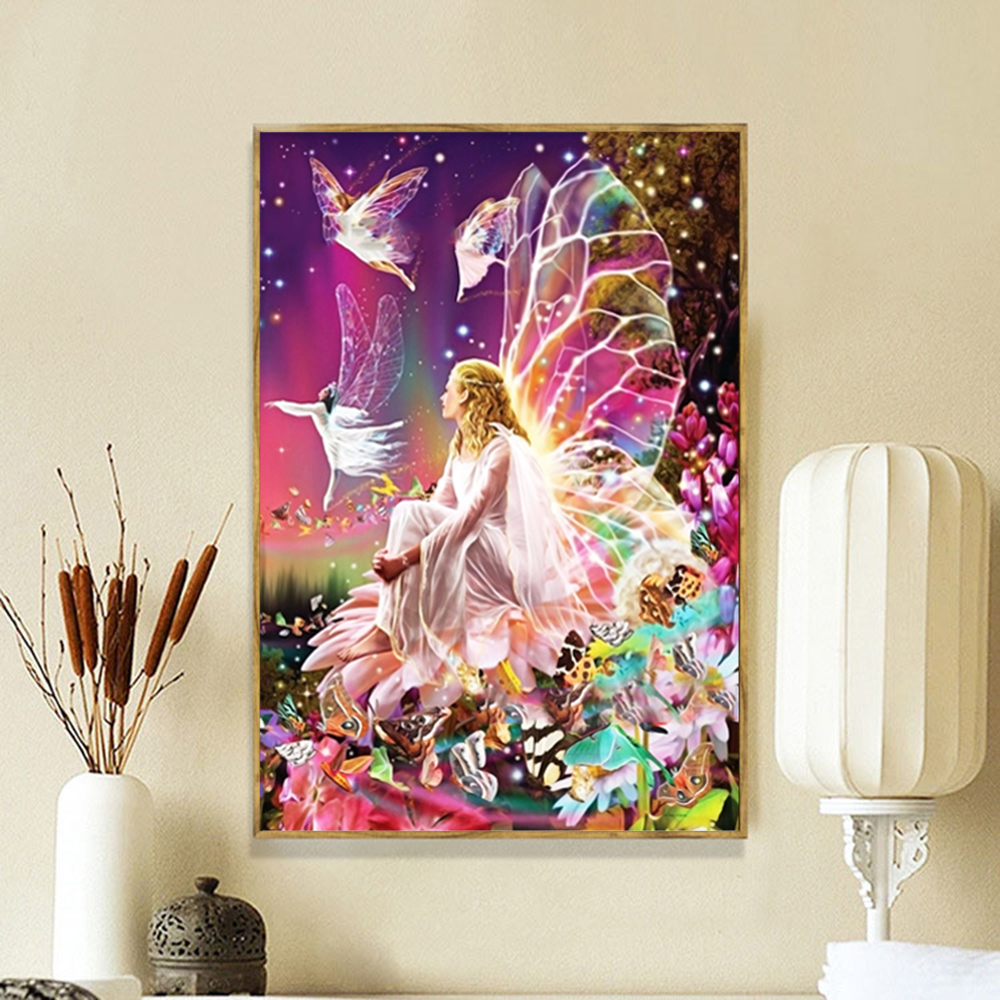 DIY 5D Diamond Painting Embroidery Elf Cross Stitch Kit Crafts Office Home Decor