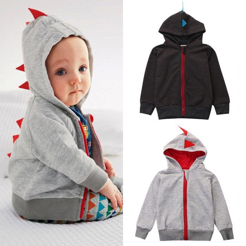 FleißIg 0-3 T Neugeborenen Kinder Baby Kleidung Junge Dinosaurier Party Mit Kapuze Hoodies Nette Baumwolle Sweatshirt Langarm Tops Mode Kleidung