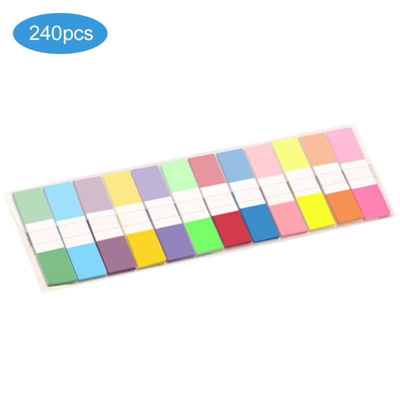 Fluorescent Bookmark Sticker Reading Label Index Tabs Label Translucent Reusable Neon Page Flags Fluorescent Page Book Markers