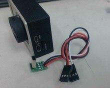 Clownfish ل Gopro 4 3 + 3 كاميرا اكسسوارات FPV Mini USB فيديو الحقيقي إخراج كابل ل Gopro AV كابل ، TL68A00 التارو الرياضة
