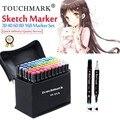 TouchMark 30/40/60/80/168 Colori Pennarelli Artistici Set Dual Intestata Artista Schizzo a base di Alcool Grassa marcatori Per L'animazione Manga