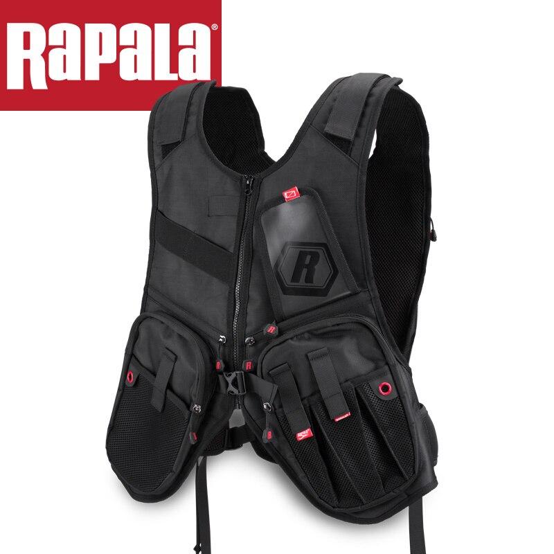 RAPALA Urban Series Vest Pack Ruvp Comfortable Multifunctional Outdoor Safety Fishing Vest bag Mutil pockets Mesh