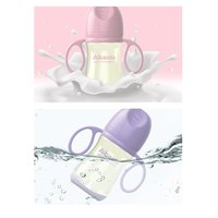 2pcs 300ml Newborn Baby Bottle Milk Bottle with Handle Silicone Gel Feeding Drinking Milk Bottle Cup for Infant Toddler