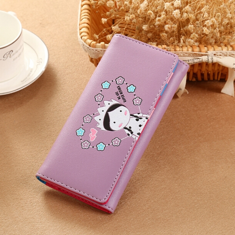 Women 39 s Wallet Korean Version Cartoon Cute Little Girl Long Wallet Phone Bag in Wallets from Luggage amp Bags