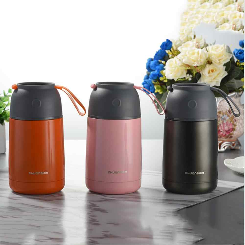 New 650ML 304 Stainless Steel Vacuum Flask Innovative Handle Boring Beaker Vacuum Insulated Stainless Steel Lunch Thermos