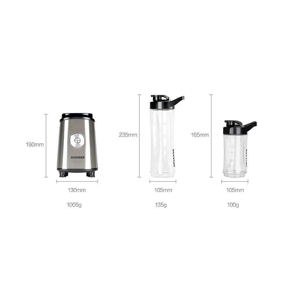 Xiaomi Ocooker Portátil Máquina de Cozinhar Espremedor de Frutas e Vegetais Bebê Ponto Interruptor de 304 Segundos 8 Máquina De Sopa de Aço Inoxidável