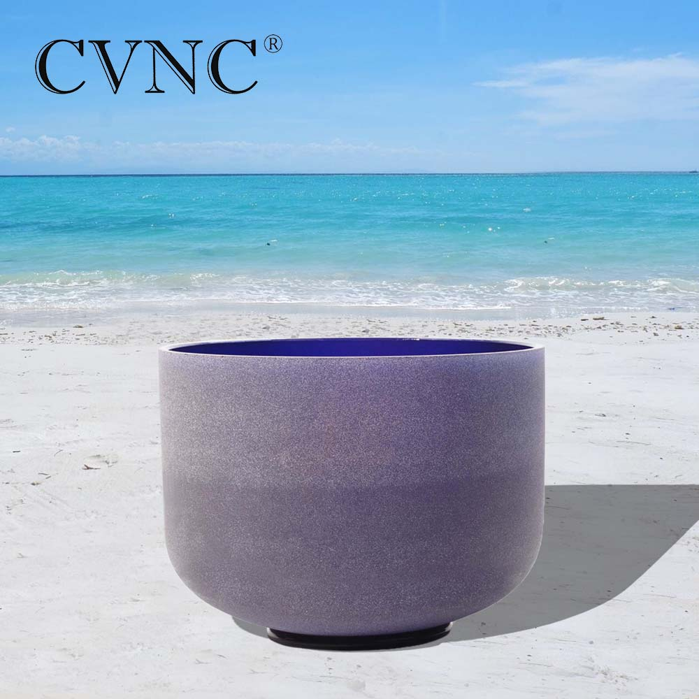 CVNC  Note A# Pineal Chakra Design Frosted Quartz Crystal Singing Bowl  Free Shipping Cost 10 inchCVNC  Note A# Pineal Chakra Design Frosted Quartz Crystal Singing Bowl  Free Shipping Cost 10 inch