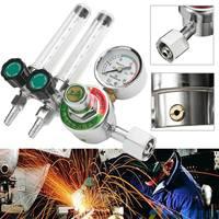 Dual Backpurge 2.5 MPA Mig Flow Meter Gas Argon AR/CO2 Regulator Welding Weld Plastic Metal Calibrated Helium Safety Durability