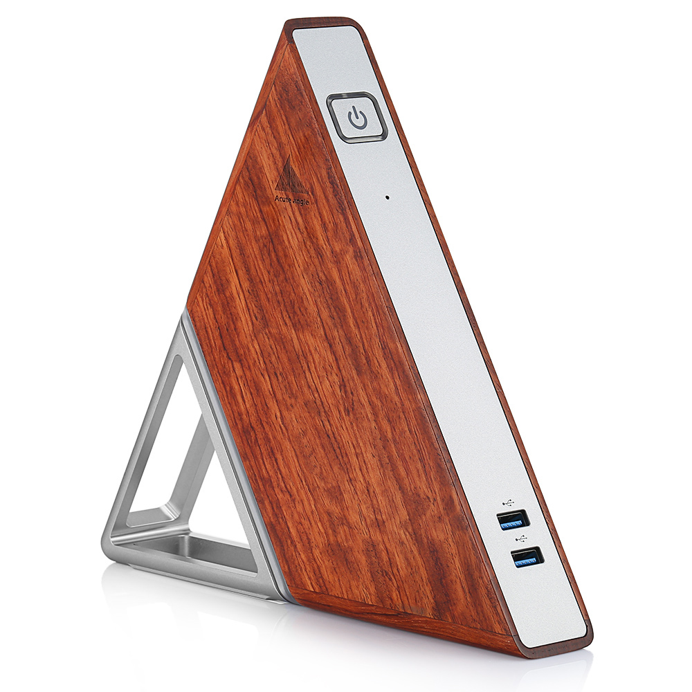 Angle aigu AA-B4 bricolage mini pc Intel Apollo Lac N3450 8 GB RAM 64 GB MEM + 128 GB SSD 2.4G 5.8G WiFi 1000 Mbps BT4.0 boîtier de smart tv